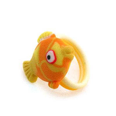 可爱小动物花草水果多款式软陶戒指(款式混装)