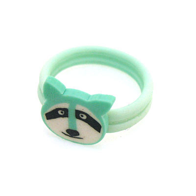 43元 可爱小动物花草水果多款式软陶戒指(款式混装) 0.