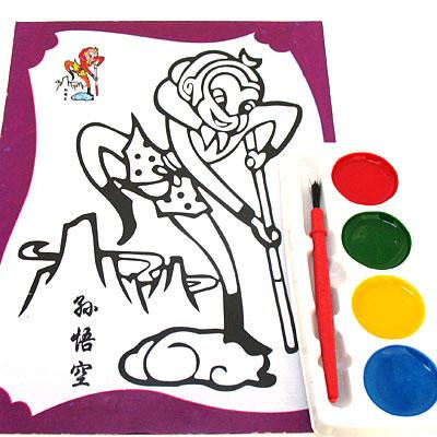 孙悟空儿童双面纸画练习用品