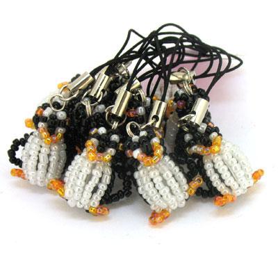 小企鹅手工串珠手机链